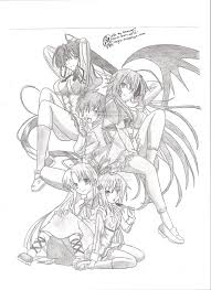 Small Picture High School Dxd Drawings Sketch Coloring Page