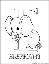 Precious Moments Letters Coloring Pagesl