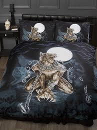 Skull Bedroom Single Bed Loups Garou Alchemy Gothic Duvet Quilt Cover Bedding