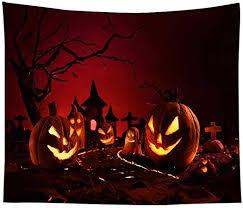 NUOLANDE <b>Halloween</b> Tapestry,<b>Cartoon</b> 3D Pumpkin Printed Wall ...