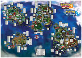 Here is a map I made with the location and info for all catchable Pokemon  in Sun and Moon: pokemon