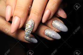 Short Nail Designs With Glitter Colorful Christmas Nails Winter Nail Designs With Glitter Rhinestones