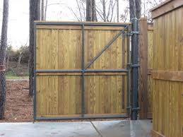 ... Divine Exterior Design Using Wooden Fence Gate : Captivating Black  Metal And Solid Wooden Fence Gate ...