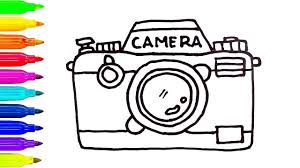 Small Picture How to Draw a Camera Coloring Pages for Kids Learning Colors