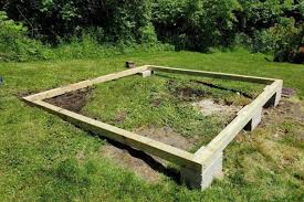 to build a shed base on uneven ground