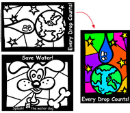 Small Picture Fun Stained Glass Coloring Sheets Window Water Energy Saving