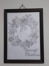 アドベントカレンダーぬり絵 クリスマスまで塗り絵でカウントダウン