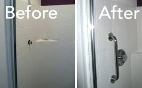 shower grab bars placement install grab bars bathroom porcelain bar placement how to in tile shower