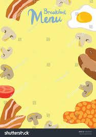 Breakfast Menu Template Breakfast Menu Template Stock Vector 24 Shutterstock 15