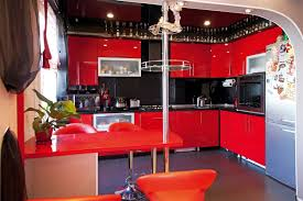 Red And Black Kitchen Red And Black Kitchen Interior Design Ideas And Photo Gallery