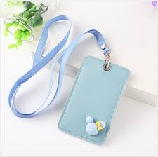 1x id faux leather card holder card case