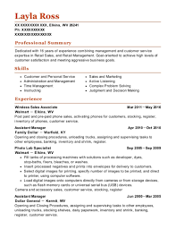 Sales Associate Resume Best Wireless Sales Associate Resumes Resumehelp