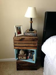 lovable wooden crate nightstand and diy crate bedside table wooden crate decor ideas diy wine crate
