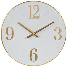 white gold metal clock hobby lobby