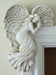 door frame angel wings wall sculpture ornament garden home decor secret fairy uk angel wings
