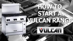 Range Pilot Light How To Start A Vulcan Range