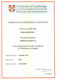 English Proficiency Certificate Template Awesome Sample Certificate