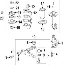 com acirc reg honda ridgeline front suspension oem parts 2006 honda ridgeline rt v6 3 5 liter gas front suspension