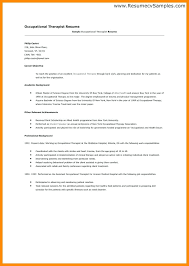 How To Do A Cover Page New Sample Occupational Therapy Resume Page Cover Letter Politicsinusa