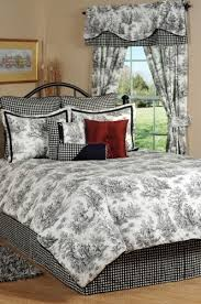 black toile bedding. Wonderful Bedding Delectably Yours Decor Jamestown Black U0026amp White Toile Bedding Comforter  Ensemble In BeddingNMore