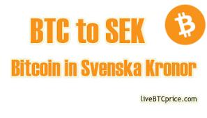 Convert Bitcoin Btc To Swedish Kronor Sek 35 536 11 Kr