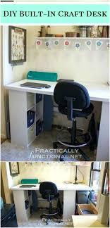 diy built in desk simple built in craft desk diy plans for computer desk