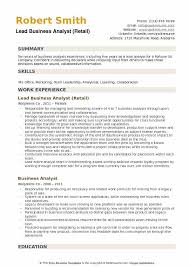 Business Analyst Resume Sample Unique Lead Business Analyst Resume Samples QwikResume