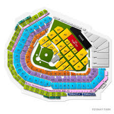 Fenway Park Pearl Jam 2018 Seating Chart 29 Specific Fenway Seating Chart Pearl Jam