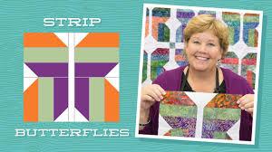 Make an Easy Strip Butterflies Quilt with Jenny! - YouTube & Make an Easy Strip Butterflies Quilt with Jenny! Adamdwight.com