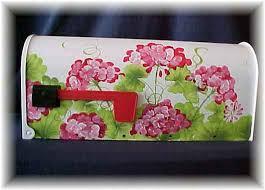 painted mailbox designs. Geranium Painted Mailbox - Decorative Mailboxes. Geranium_DOOR_MAILBOX_225 Designs