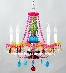 multi colored chandelier hot er multi color crystal chandelier kids bedroom small lighting 5 lamps arm