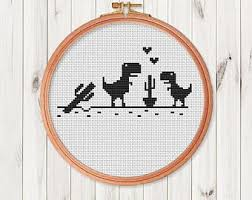 Easy Cross Stitch Patterns New T Rex Cross Stitch Etsy