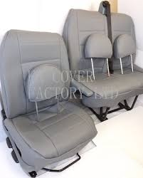 get ations ford transit van 2006 model seat covers light grey pvc leather made to measure
