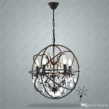 rustic globe candle chandeliers country hardware vintage orb crystal