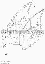Suzuki door schematic all kind