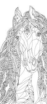 Coloring Pages Horse Printable Adult Coloring Book Clip Art Hand
