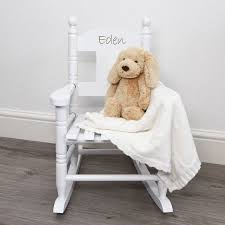 white wooden rocking chair. Personalised Child\u0027s Rocking Chairmy 1st Years White Wooden Chair O
