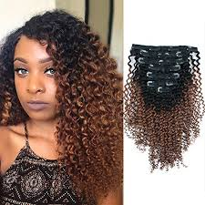 African American Natural Hairstyles 75 Inspiration AmazingBeauty 224C 24A Kinkys Curly Ombre Hair Extensions Double Weft