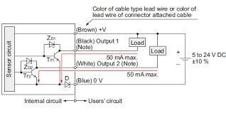 amplifier built in u shaped micro photoelectric sensor compact npn output type i o circuit diagram