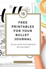 Free Printable December Bullet Journal Setup Wundertastisch