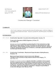 Construction Manager Resume Extraordinary Constructing A Resume