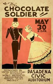 Advertising Posters The Chocolate Soldier Vintage Poster Vintagelized Mixed Media By
