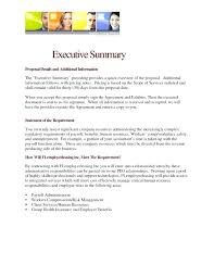 Executive Summary Sample For Proposal Project Executive Summary Template Construction Executive