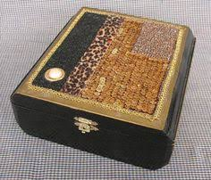 Decorating Cigar Boxes Macaroni and Pasta Art Box Prettiest macaroni art I've seen DIY 97