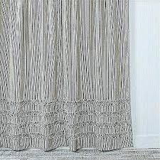 ticking stripe shower curtain best of ruffled black green