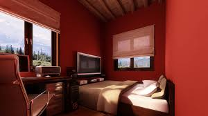 Small Bedroom Painting Small Bedroom Colors And Designs With Amazing Red Wall Painting