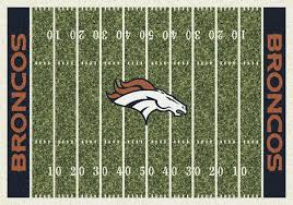 denver broncos nfl football field rug contemporary novelty rugs by fan rugs