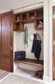 closet doors entry contemporary with coat hooks built in coat hooks