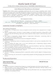 Hr Manager Sample Resume