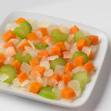 Typically it consists of two parts onion, and one part each of celery and carrot gently fried in butter or olive oil until soft. Mirepoix Blend Norpac